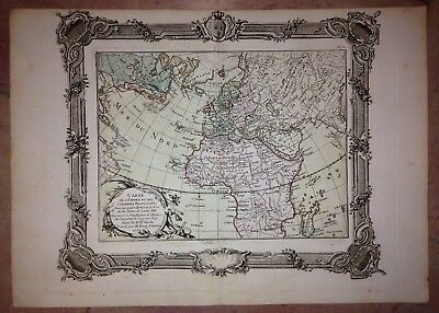 FRENCH EMPIRE DATED 1764 by RIZZI-ZANNONI ANTIQUE COPPER ENGRAVED MAP
