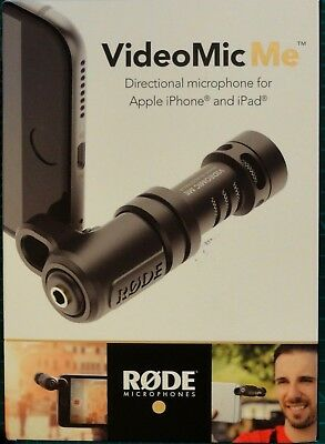 OPEN BOX - Genuine RODE VideoMic Me Microphone for Apple iPhone iPad
