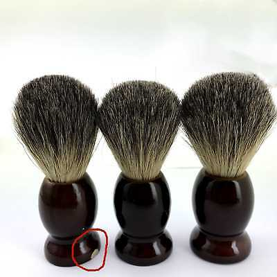 Pure Badger Hair Wet Shaving Brush Salon Barber With Handle Defect