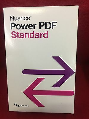 Nuance Power PDF Standard opened in the orginal box (not registered)