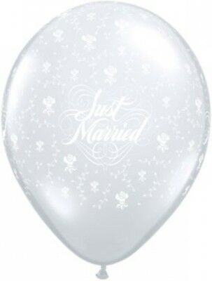 Qualatex 39242Just Married flowers-a-round Diamond palloncini in (n7W)