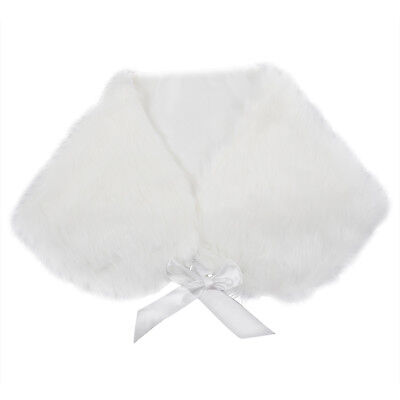 Ivory Plush Faux Fur Women Wedding Wraps Shrug Bridal Shawls H1A5 L5P5