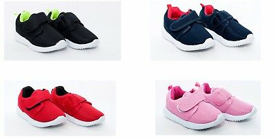 Girls / Boys canvas Fasteners Trainers Shoes Pumps 7.5-11 UK (25-30 EU)