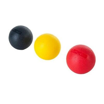 PURE2IMPROVE Balle de massage 5,0 cm - Fitness  - Noir/Rouge/Jaune