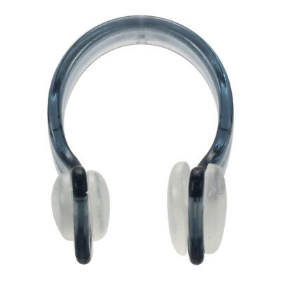 Gray Clear Rubber Swim Training Swimming Nose Clip Protector 3 Pcs D3C6 W5T3
