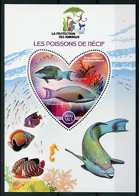 Madagascar 2017 MNH Reef Fish 1 S/S Poissons Fishes Marine Stamps