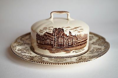 Johnson bros old britain castles Butter Dish Covered Round Base