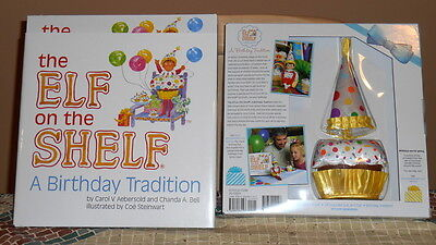 Elf on The Shelf NEW CUPCAKE HAT Costume Suit  BIRTHDAY Tradition BOOK Box Set