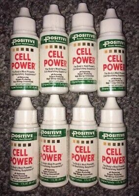 8 Positive Power Nutritionals Cell Power Drops Food- 1 fl.oz Exp. 12/2020 SEALED