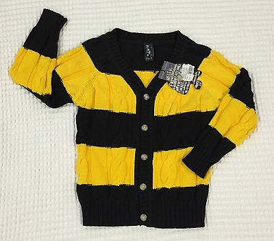 Minti Cable Knit Cardi Yellow/Black (Size 5) BNWT (rrp $79.95)