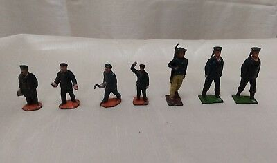 Vintage Painted Diecast Figures - Train/Engineer - Military/Soldiers - Bundle