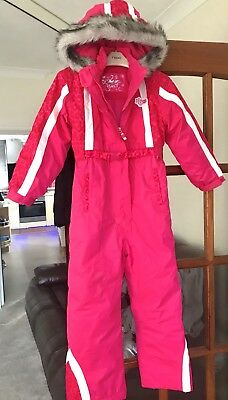 Girls Pink Snowsuit Age 6-7 New Without Tags