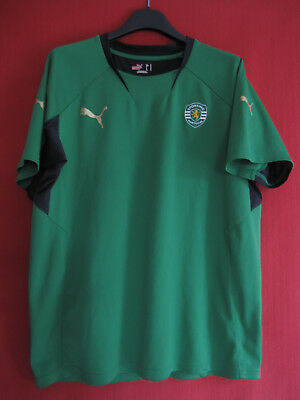 Maillot Sporting Portugal vert entrainement shirt Puma vintage jersey - M