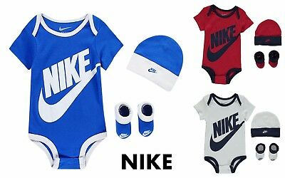 New Nike Futura Vest Hat boots Baby Unisex Romper Size 0-6   3.6  -9-12 Months