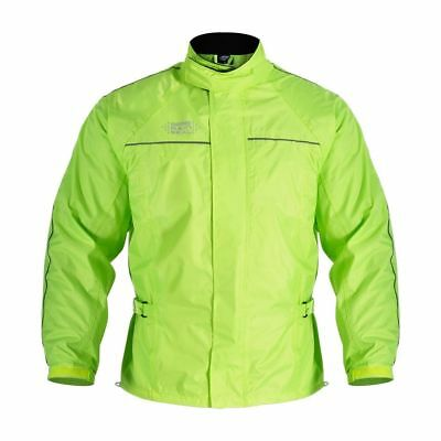 Oxford Rainseal Waterproof Hi Viz Over Jacket - Light Weight Biker Rain Seal