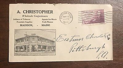 Madison Maine Christopher Confectioners Agents Moxie Cover Envelope