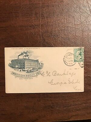 1889 American Biscuit Co. San Fransisco California Ca. Cover Envelope