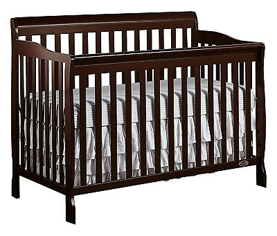 Convertible Crib Nursery Baby Bed 5 -in-1 Toddler Full Size Children Bed Gift