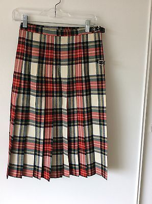 Hector Russell Scottish Kilt Highland Dress Tartan Skirt Sz S