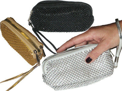 Ladies Beaded Small Purse Clutch Bag Pouch Evening Party Girls