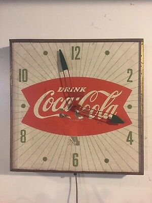 Vintage ( Pam ) Coca-Cola Fishtail Clock