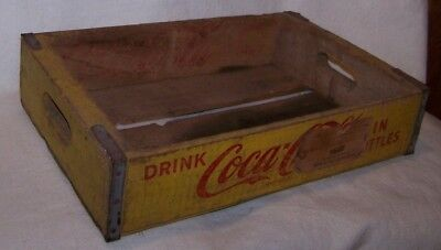 Vintage 1967 Yellow Wooden Coca Cola Crate Case Chattanooga South Dakota