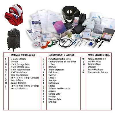 Tac Med Military Trauma Kit Medium Transport Pack Over 190 First Aid Supplies