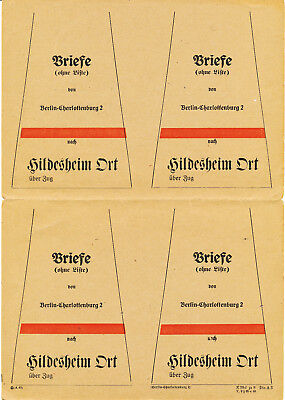 GERMANY REICH DOWN BAG FINS BEUTELFAHNEN SHEET/4 (1940es)