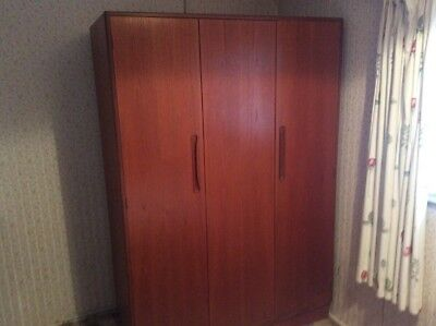 G Plan Vintage Teak Fresco Triple Wardrobe