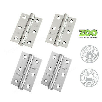"""Door Hinges Ball Bearing 3"""" Chrome Inc Screws ZOO Hardware Domestic/Commercial"""