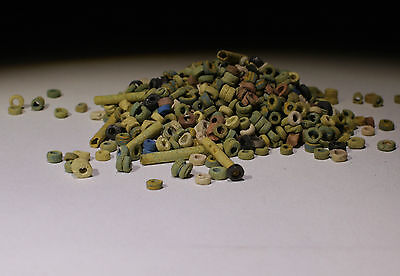 Ancient Egyptian Bead Group Circa 1300 Bc  - No Reserve!