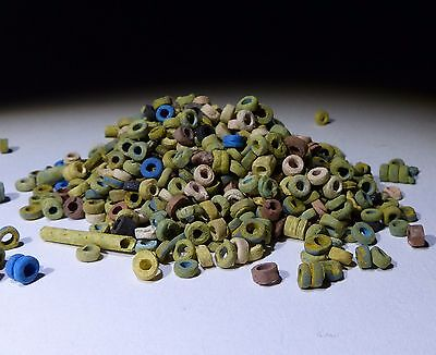Super Quantity Of Ancient Egyptian Beads Group Circa 1300 Bc  - No Reserve 009