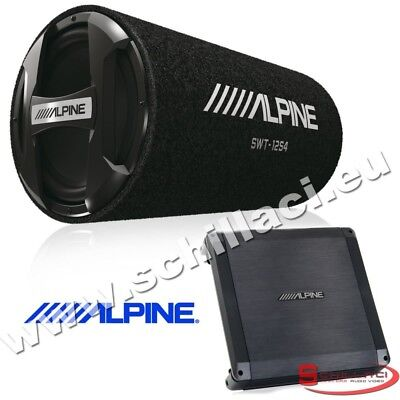 Kit subwoofer tubo 30 cm 1000 watts + Amplificatore Alpine BBX-F600 + SWT-12S4