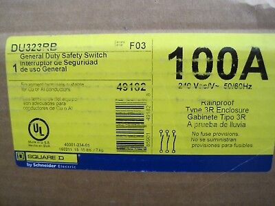 Square D DU323RB General Duty Safety Switch