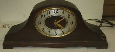 Vintage Revere Westminister  Wood Case Mantle Chime Clock