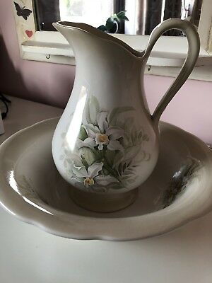 Blakeney Bedside Jug And Wash Bowl