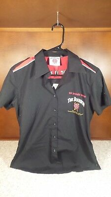 Jim Beam Black Fitted Short Sleeve Rockabilly Button up Promo Shirt - Small