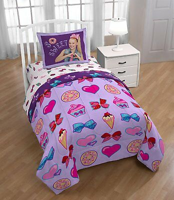 Jojo Siwa Sweet Life Twin Full Purple Comforter And Sham 2-Pc Set Bed Bedding