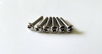 Genuine Fender Stratocaster Pickup Mounting Screws - Package of 6