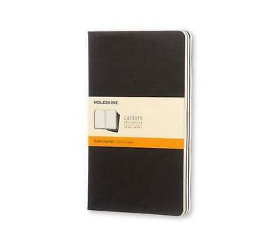 (TG. Large 13x21) Ruled cahier - black cover large. Set 3 quaderni a righe - NUO