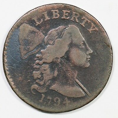 1794 S-24 Apple Cheek Liberty Cap Large Cent Coin 1c