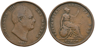 William IV - 1831 - WW Incuse Penny