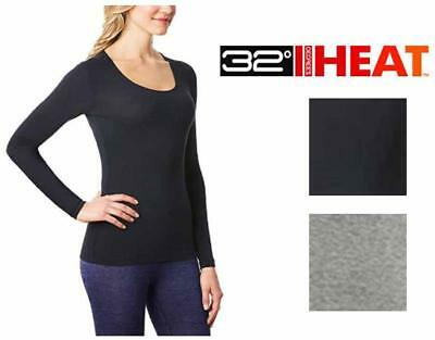 32 Degrees Heat Ladies' Long Sleeve Scoop Neck Base layer Top Variety S M L XL