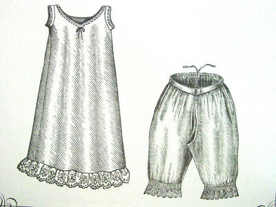 Sewing Pattern Truly Victorian TV102 Edwardian Victorian Chemise Drawers Underwe