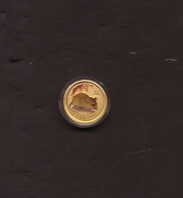 Australia 2008 Chinese Lunar Mouse 1/20th Oz Pure .9999 Gold