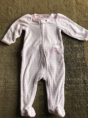b202453d4 CARTERS BABY GIRL Terry Footed Pajamas -  1.00