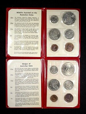 1969 and 1970 Australia 6-Coin Royal Mint 2-set Lot