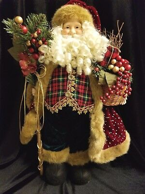 "Vintage HOMCO Home Interiors Christmas - ""Holly Jolly Santa Doll"" 55049 NIB"