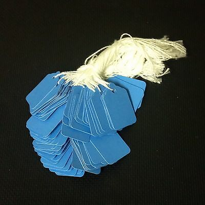 1000 pre-strung tags, BLUE string tags price tags, merchandise pricing