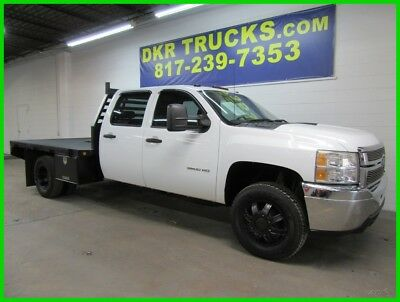 2011 Chevrolet Silverado 3500 Work Truck Dually 4 door 4WD Flat bed 2011 Chevy 3500 DRW Crew Cab 4x4 V8 Service Contractor Flatbed